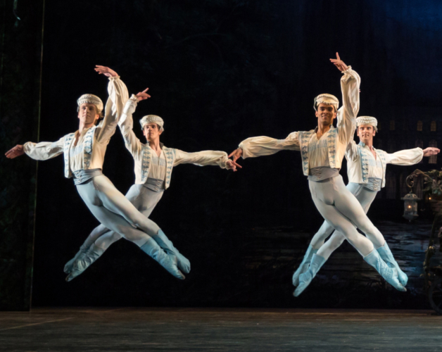 <p><em>Coppélia: </em>Feargus Campbell, William Bracewell, Brandon Lawrence and Valentin Olovyannikov in 'Call to Arms'</p>. Credit: Andrew Ross.