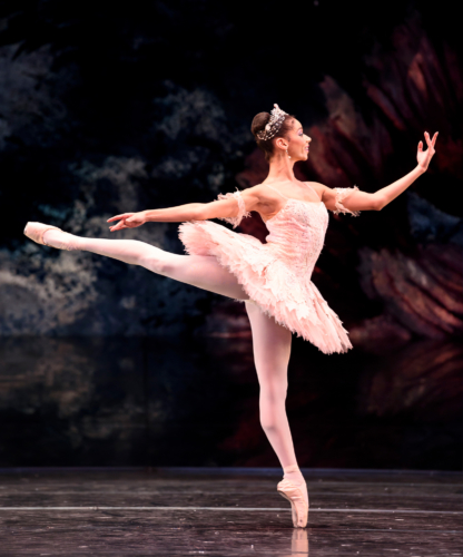 <p><em>The Nutcracker</em>: Céline Gittens as the Sugar Plum Fairy</p>. Credit: Bill Cooper.