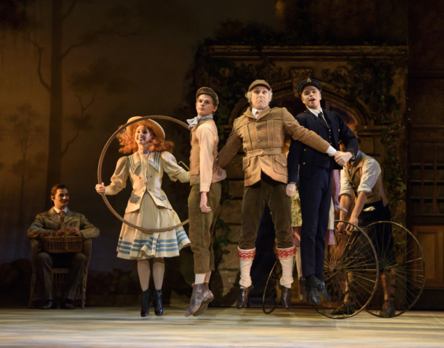 <p><em>Enigma Variations: </em>Feargus Campbell as Richard Baxter-Townshead with Luke Shaufuss as Country boy, Emily Smith and Lewis Turner as Sailor girl and boy</p>. Credit: Bill Cooper.