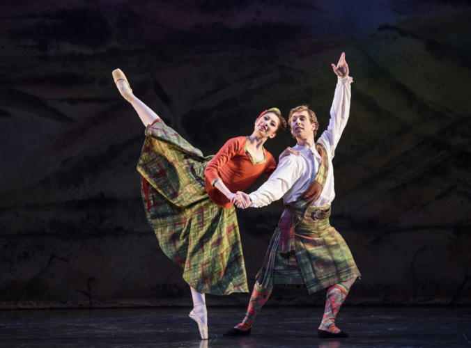 <p><em>Four Scottish Dances: </em>Alys Shee and Feargus Campbell</p>. Credit: Bill Cooper.