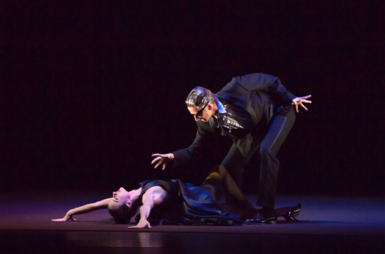 <p>The Shakespeare Suite: Valentin Olovyannikov as Richard III and Arancha Baselga as Lady Anne</p>. Credit: Andrew Ross.