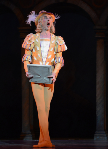 <p><em>The Taming of the Shrew: </em>Valentin Olovyannikov as Gremio</p>. Credit: Roy Smiljanic.