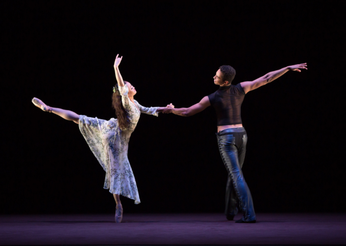<p><em>The Shakespeare Suite: </em>Yaoqian Shang as Juliet and Edivaldo Souza da Silva as Romeo</p>. Credit: Andrew Ross.