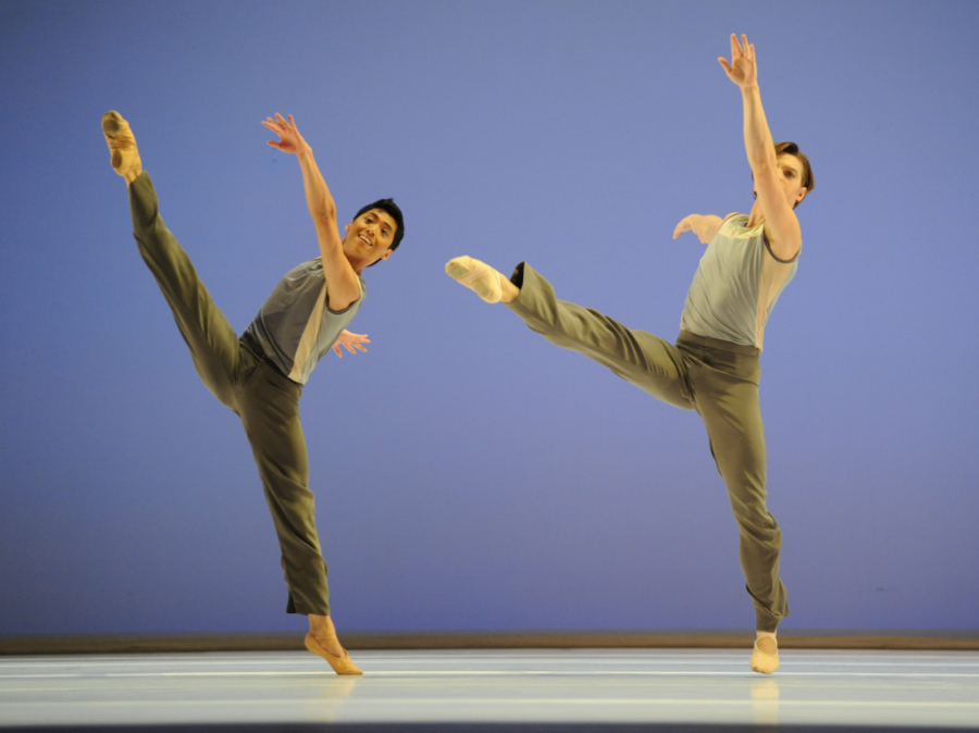<p><em>Lyric Pieces: </em>Tzu-Chao Chi and Joseph Caley in 'Norwegian Melody'</p>. Credit: Roy Smiljanic.