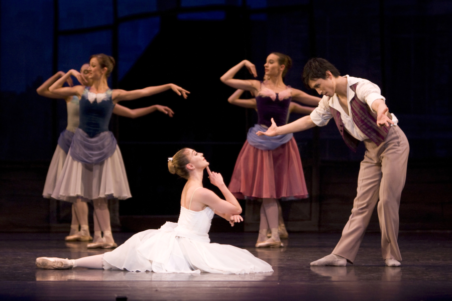 <p><em>The Two Pigeons:</em> Ambra Vallo as the Young Girl and Chi Cao as the Young Man</p>. Credit: Bill Cooper.
