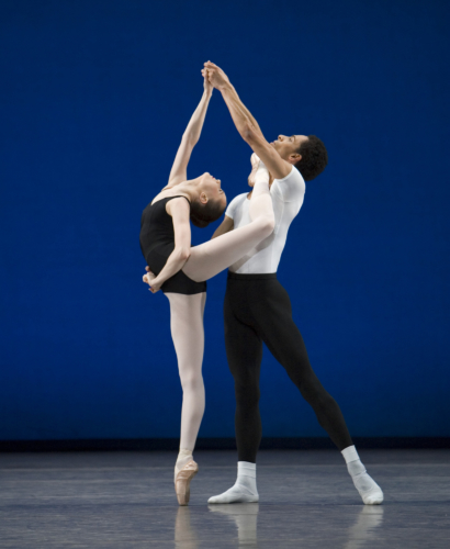 <p><em>Agon: </em>Jenna Roberts and Tyrone Singleton</p>. Credit: Bill Cooper.