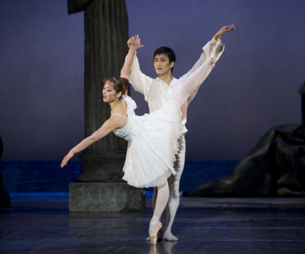 <p><em>Sylvia:</em> Nao Sakuma as Sylvia and Chi Cao as Amynta</p>. Credit: Bill Cooper.