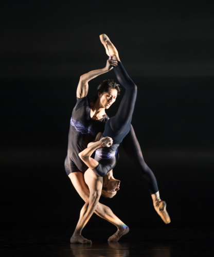<p><em>E=mc²: </em>Yvette Knight and Yasuo Atsuji in 'Energy'</p>. Credit: Bill Cooper.
