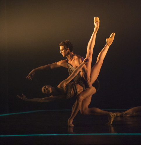 <p><em>E=mc²: </em>Jenna Roberts and Iain Mackay in 'Mass'</p>. Credit: Bill Cooper.