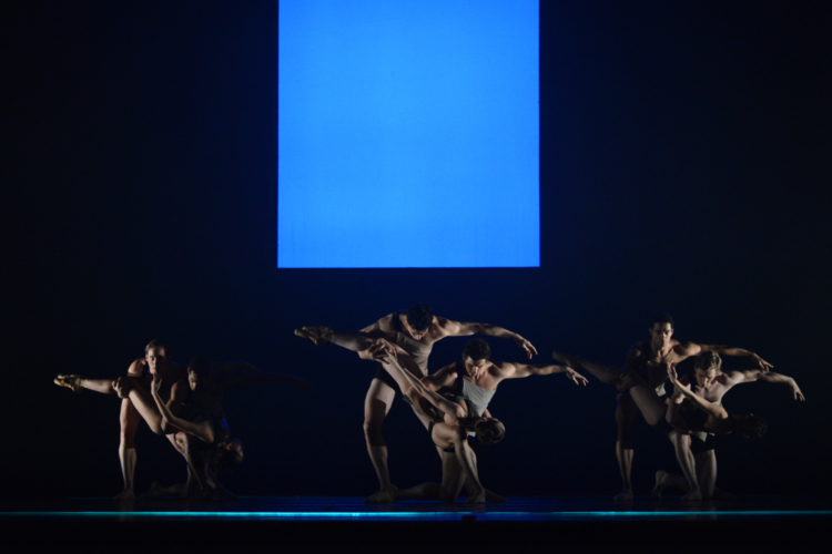 <p><em>E=mc²</em><em>: </em>Artists of Birmingham Royal Ballet in 'Mass'</p>. Credit: Bill Cooper.