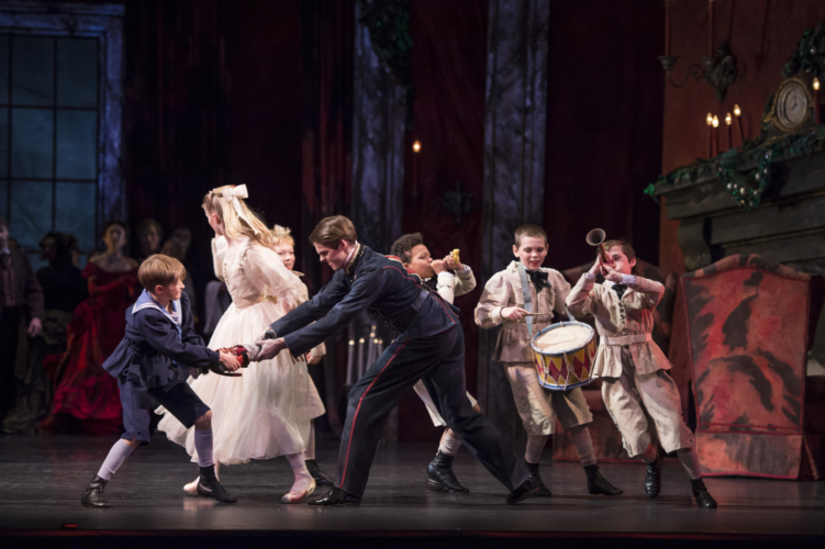<p><em>The Nutcracker: </em>Lachlan Monaghan as Clara's Dancing Partner</p>. Credit: Bill Cooper.
