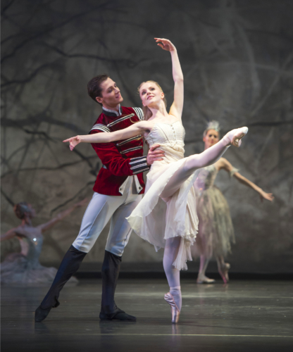 <p><em>The Nutcracker: </em>Karla Doorbar as Clara and Jamie Bond as the Prince</p>. Credit: Bill Cooper.