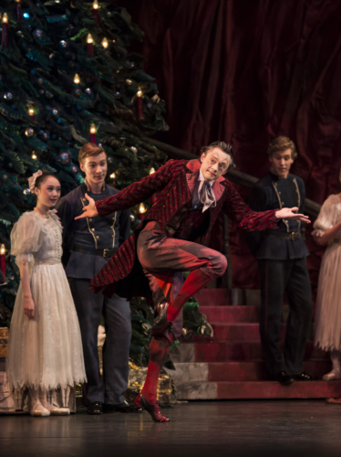 <p><em>The Nutcracker:</em> Rory Mackay as the Magician's Assistant</p>. Credit: Bill Cooper.