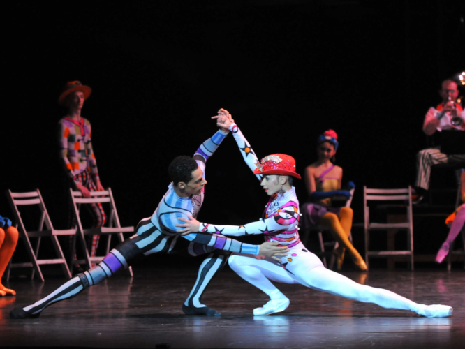 <p><em>Elite Syncopations: </em>Céline Gittens and Tyrone Singleton in 'Bethena Concert Waltz'</p>. Credit: Phil Hitchman.