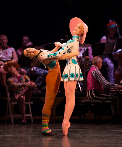 <p><em>Elite Syncopations:</em> Callie Roberts and Tzu-Chao Chou in 'Alaskan Rag'</p>. Credit: Bill Cooper.
