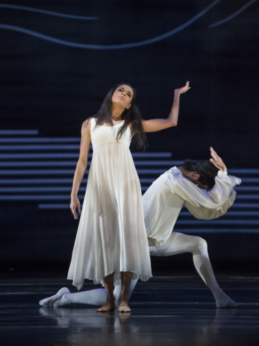 <p><em>Dante Sonata: </em>Céline Gittens and Yasuo Atsuji as Lead Children of Light</p>. Credit: Bill Cooper.