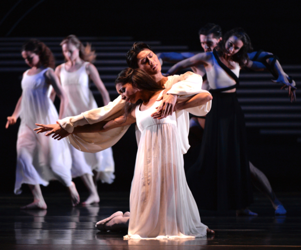 <p><em>Dante Sonata:</em> Yasuo Atsuji and Céline Gittens as Lead Children of Light</p>. Credit: Phil Hitchman.