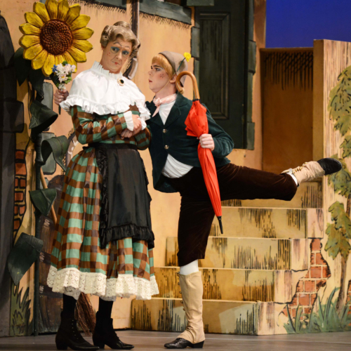 <p><em>La Fille mal gardée:</em> James Barton as Alain and Rory Mackay as Widow Simone</p>. Credit: Roy Smiljanic.