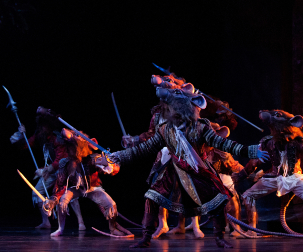 <p><em>The Nutcracker:</em> Yasuo Atsuji as King Rat with Artists of Birmingham Royal Ballet</p>. Credit: Caroline Holden.