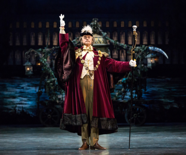 <p><em>Coppélia: </em>Rory Mackay as the Duke</p>. Credit: Andrew Ross.
