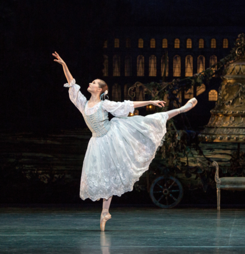 <p><em>Coppélia: </em>Jenna Roberts in 'Prayer'</p>. Credit: Andrew Ross.