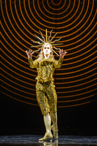 <p><em>The King Dances: </em>William Bracewell as Le Roi Soleil</p>. Credit: Bill Cooper.
