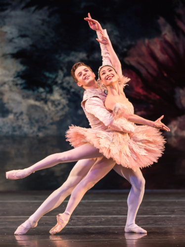 <p><em>The Nutcracker: </em>Momoko Hirata as the Sugar Plum Fairy and Joseph Caley as the Prince</p>. Credit: Andrew Ross.