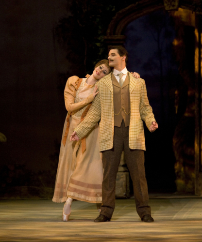 <p><em>Enigma Variations: </em>Samara Downs as The Lady and Dominic Antonucci as Edward Elgar</p>. Credit: Bill Cooper.