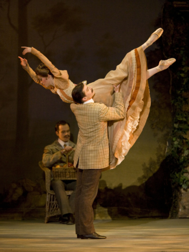 <p><em>Enigma Variations:</em> Samara Downs as The Lady and Dominic Antonucci as Edward Elgar</p>. Credit: Bill Cooper.