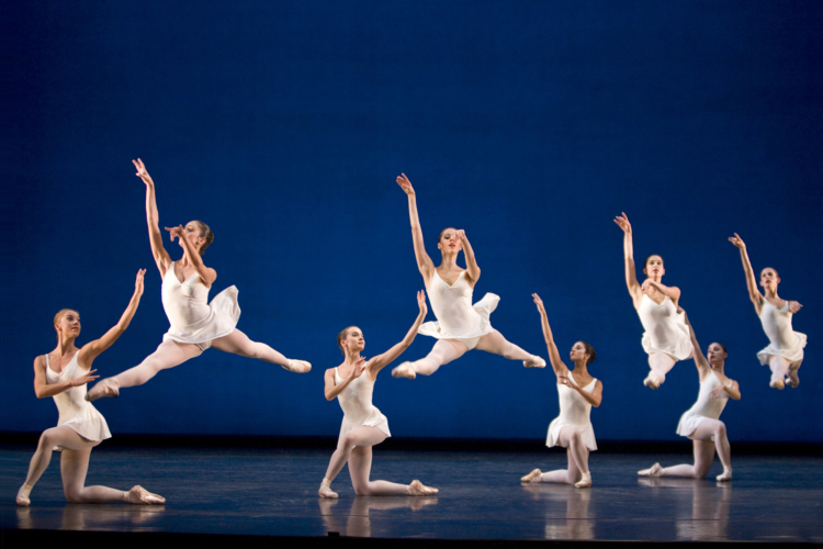 <p><em>Concerto barocco: </em>Artists of Birmingham Royal Ballet</p>. Credit: Andrew Ross.