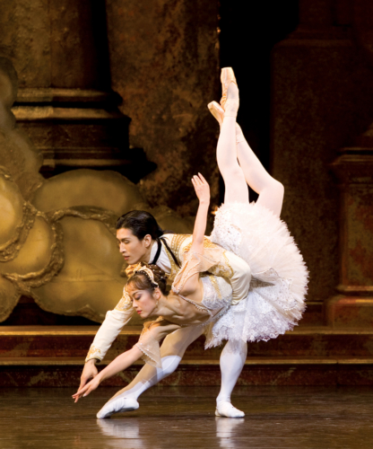 <p><em>The Sleeping Beauty:</em> Nao Sakuma as Aurora and Chi Cao as Prince Florimund</p>. Credit: Bill Cooper.