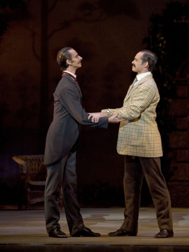 <p><em>Enigma Variations: </em>Valentin Olovyannikov as A. J. Jaeger and Jonathan Payn as Edward Elgar</p>. Credit: Bill Cooper.
