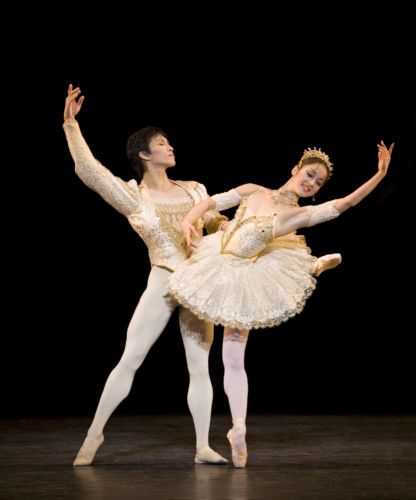 <p><em>Paquita: </em>Nau Sakuma and Chi Cao</p>. Credit: Bill Cooper.