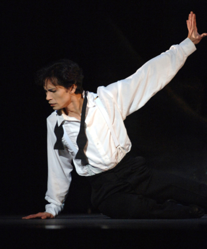 <p><em>Sylvia:</em> César Morales as Amynta</p>. Credit: Roy Smiljanic.