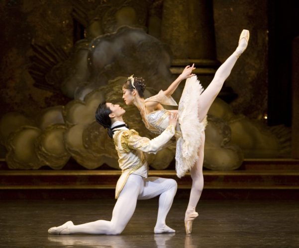 <p><em>The Sleeping Beauty: </em>Nao Sakuma as Princess Aurora and Chi Cao as Prince Florimund</p>. Credit: Bill Cooper.