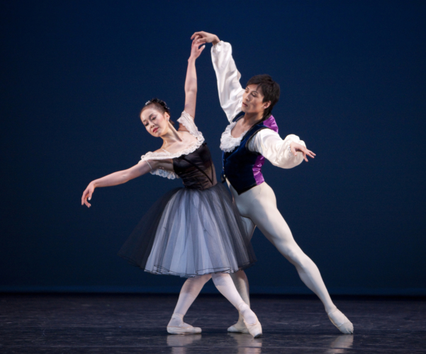 <p><em>Mozartiana:</em> Nao Sakuma and Chi Cao</p>. Credit: Bill Cooper.