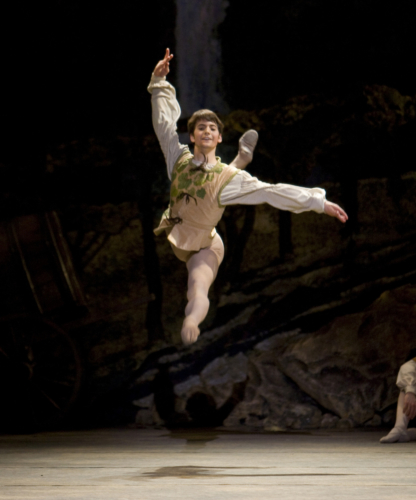 <p><em>Giselle: </em>Mathias Dingman in the 'Harvest pas de deux'</p>. Credit: Bill Cooper.