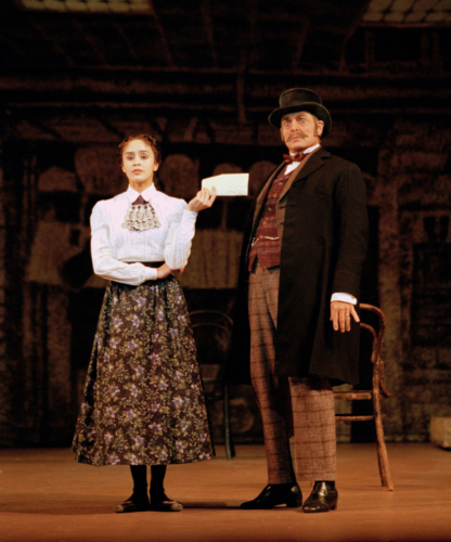 <p><em>Hobson's Choice:</em> Leticia Müller as Maggie Hobson and Desmond Kelly as Henry Hobson</p>. Credit: Bill Cooper.