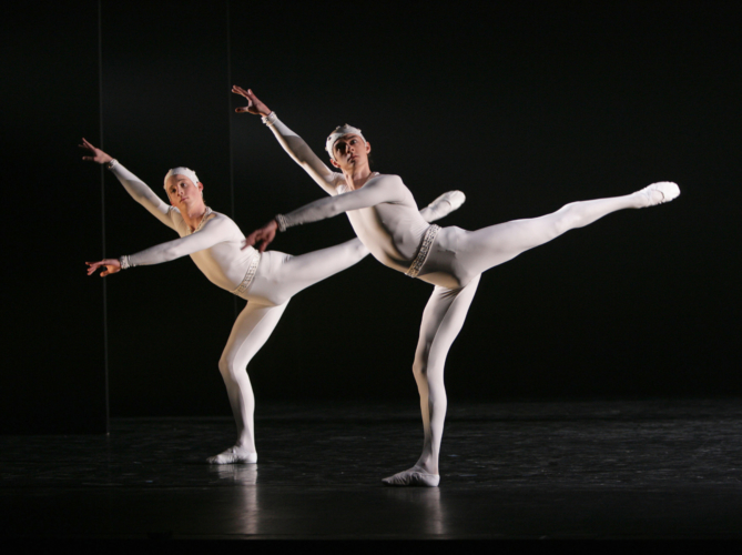 <p><em>Monotones II:</em> Steven Monteith and Rory Mackay</p>. Credit: Steve Hanson@Emma Rothera.