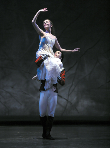 <p><em>The Nutcracker:</em> Rachel Peppin as Clara and Chi Cao as the Prince</p>. Credit: Steve Hanson.