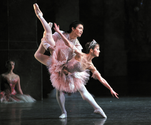 <p><em>The Nutcracker:</em> Nao Sakuma as the Sugar Plum Fairy and Chi Cao as the Prince</p>. Credit: Steve Hanson @Emma Rothera.
