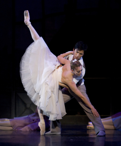 <p><em>The Two Pigeons: </em>Ambra Vallo as the Young Girl and Chi Cao as the Young Man</p>. Credit: Bill Cooper.