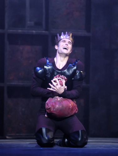 <p><em>Edward II: </em>Robert Tewsley as Edward</p>. Credit: Roy Smiljanic.