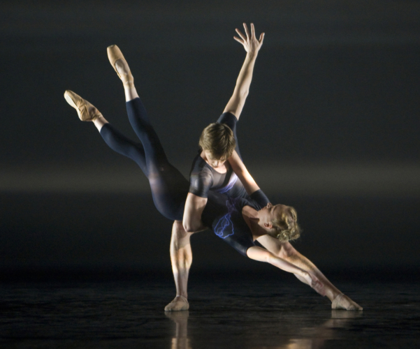 <p><em>E=mc²:</em> Elisha Willis and Joseph Caley in 'Energy'</p>. Credit: Bill Cooper.