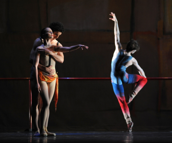 <p><em>The Dance House: </em>Jenna Roberts and Iain Mackay with Jamie Bond</p>. Credit: Roy Smiljanic.