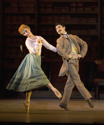 <p><em>Hobson's Choice:</em> Laëtitia Lo Sardo as Alice Hobson and Chi Cao as Fred Beenstock</p>. Credit: Bill Cooper.