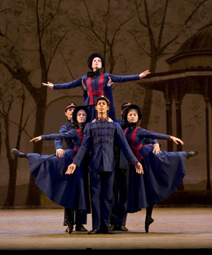 <p><em>Hobson's Choice: </em>Jenna Roberts, Laura Purkiss, Lei Zhao, Tyrone Singleton and Jamie Bond in 'Salvation Army'</p>. Credit: Bill Cooper.