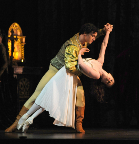 <p><em>Romeo and Juliet:</em> Jenna Roberts as Juliet and Tom Rogers as Paris</p>. Credit: Roy Smiljanic.