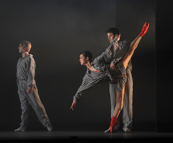 <p><em>In the Upper Room: </em>Momoko Hirata, Mathias Dingman and Christopher Rodgers-Wilson</p>. Credit: Roy Smiljanic.
