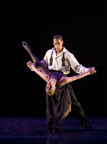 <p><em>Nine Sinatra Songs:</em> Victoria Marr and Tyrone Singleton in 'One for My Baby'</p>. Credit: Bill Cooper.